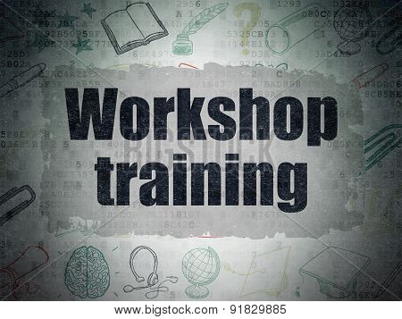 Learning concept: Workshop Training on Digital Paper background