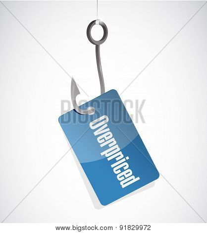 Overpriced Hook Tag Sign Concept