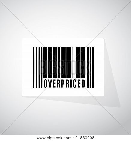 Overpriced Barcode Sign Concept