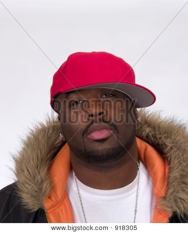 Young Black Man In Ball Cap