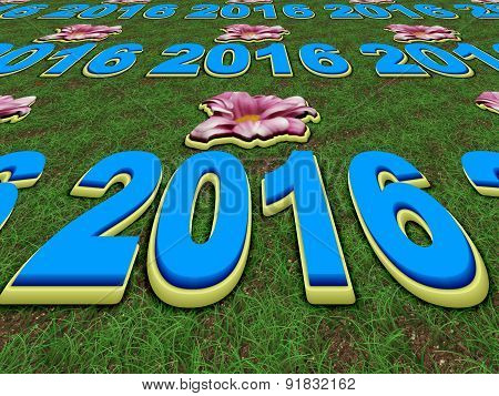 Happy New Year 2016 Perspective Image