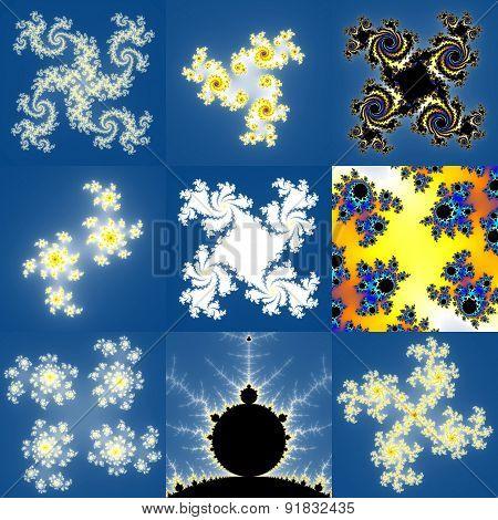 Set of Fractal Floral Patterns