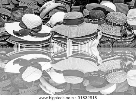 Sun hats for sale- with reflection