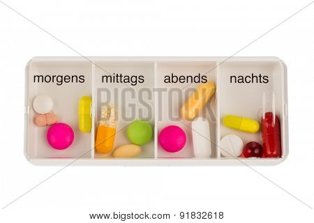 tablet dispenser, symbolfoto for therapy, regulation and dosage