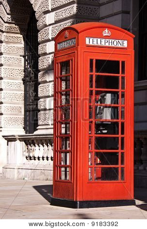 Red  telephone boxes near Big Ben