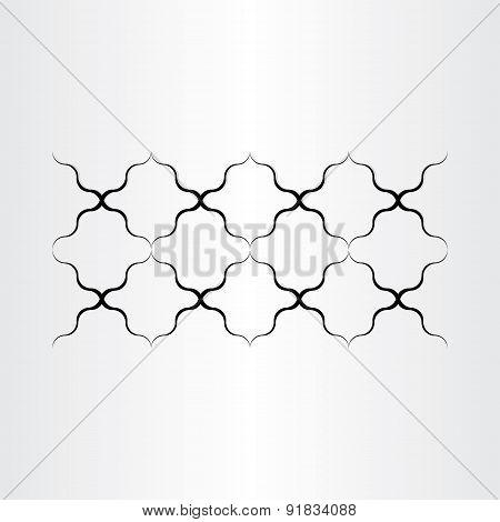 Black Metal Wire Design Element