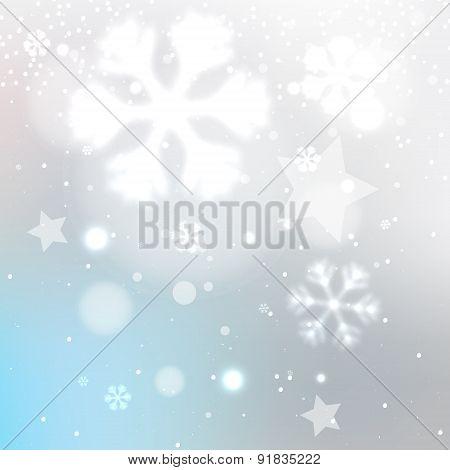 Snowy Winter Blurred Background