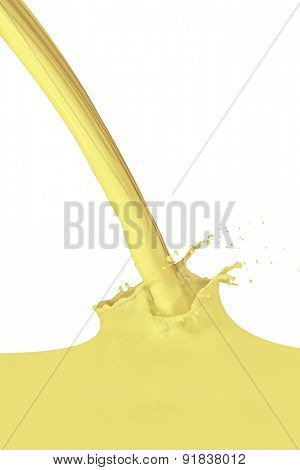 vanilla milk splash isolated on white background