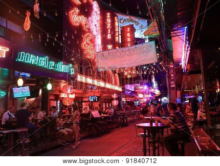 Red light district Bangkok Thailand