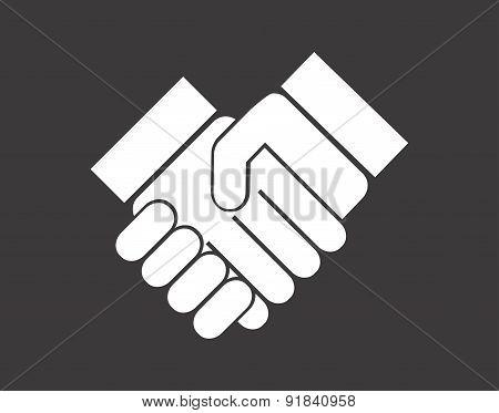 Hand design over gray background vector illustration