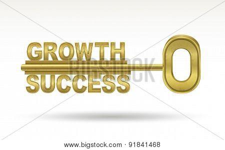 Growth Success - Golden Key