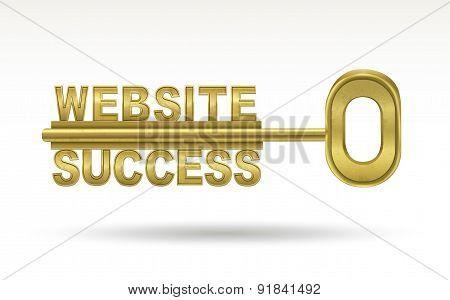 Website Success - Golden Key