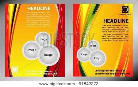 Vector abstract yellow background brochure