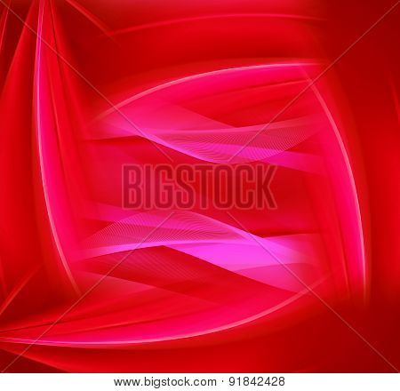 Abstract Red wave line Background