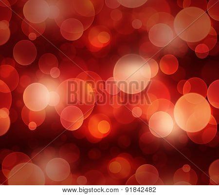Defocused red light dots against background