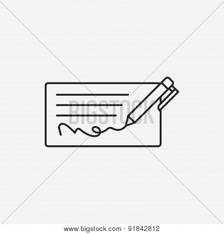 Money Check Line Icon