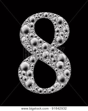 figure eight bubble font