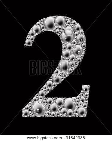 figure 2 bubble font