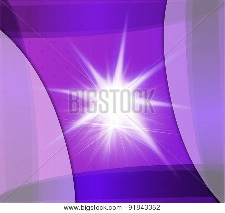 Abstract purple background with flare