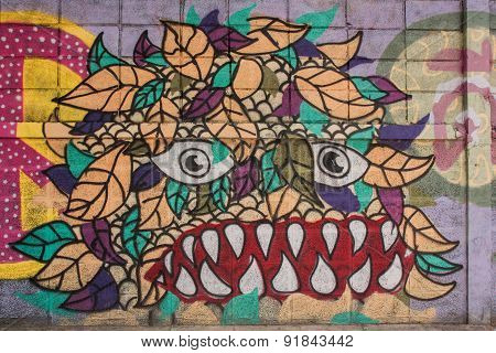 Street Art Graffiti, Paintings On The Wall.