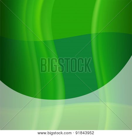 Green silky wave background