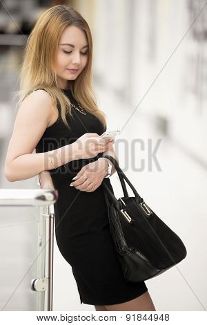 Young Woman Messaging