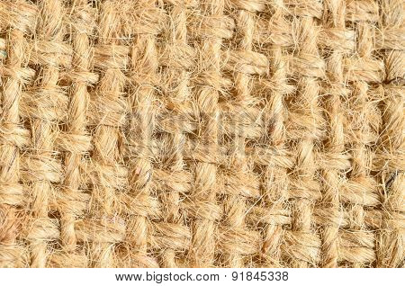 Close Up Old Canvas Texture Background