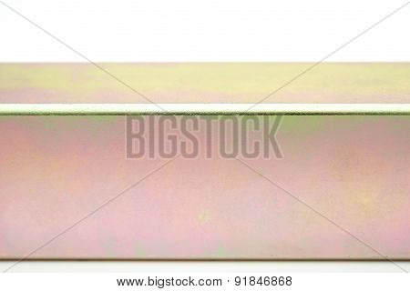 Yellow Passived Square Tube On A White Background