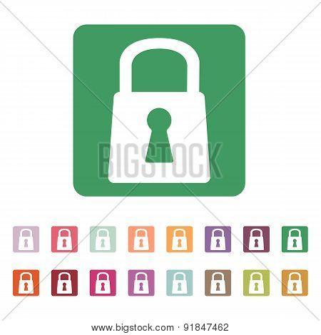 The Lock Icon. Lock Symbol. Flat