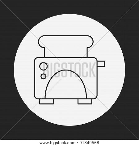 Toaster Line Icon