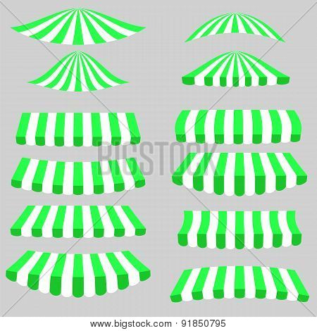 Green White Tents