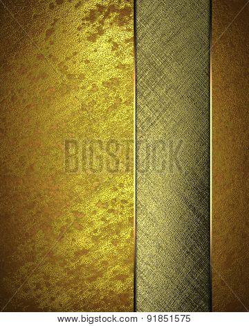 Gold Texture With Gold Cutout. Element For Design. Template For Design. Abstract Grunge Background.