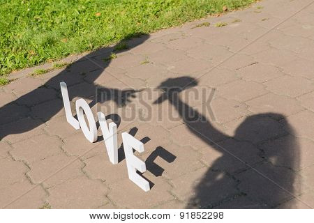 Shadows of love couple