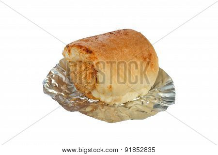 Shredded Pork Bread On White Background