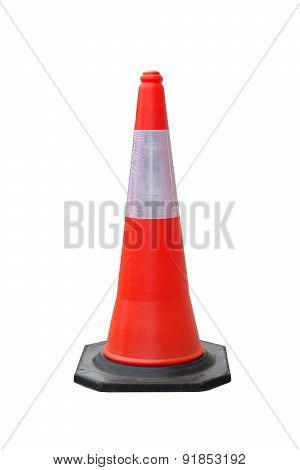 Traffic Cones Isolate With Clipping Path
