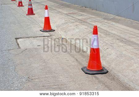 Road Cone On The Concrete