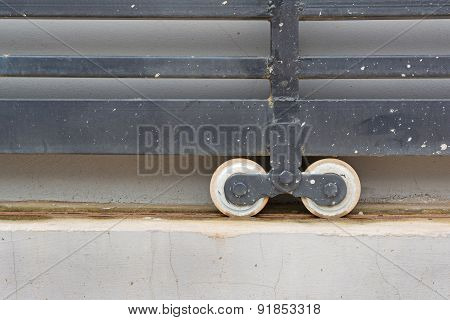 Slide Door With Wheel Bearing
