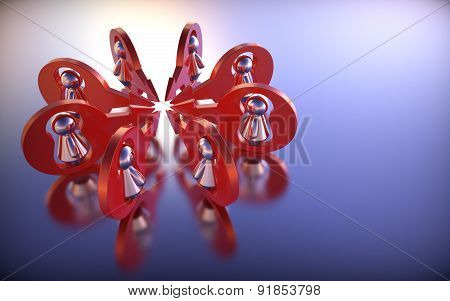 Abstract Concept With Human Figures. 3D Render.