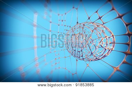 Abstract Technological Background. 3D Render. Selective Focus. Bokeh.