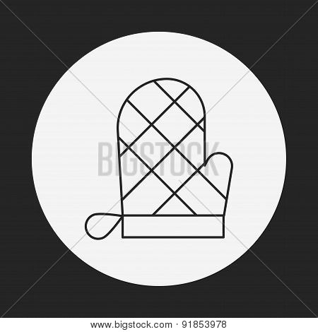 Baking Gloves Line Icon