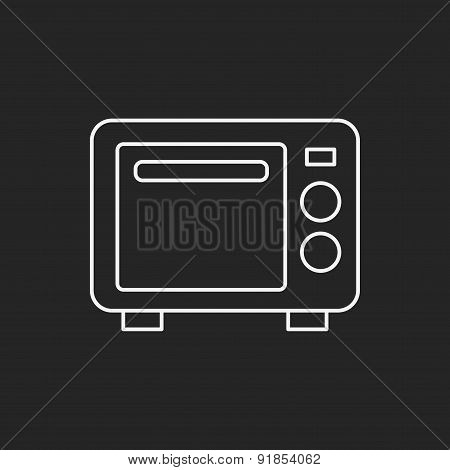 Microwave Line Icon