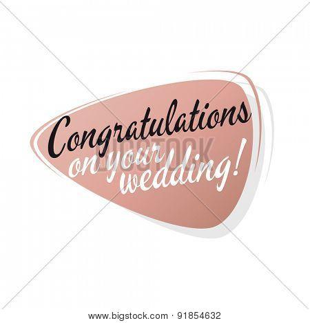 retro wedding congratulations sign