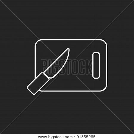 Cutting Board Line Icon