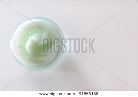 Cream Jar Top View Isolated