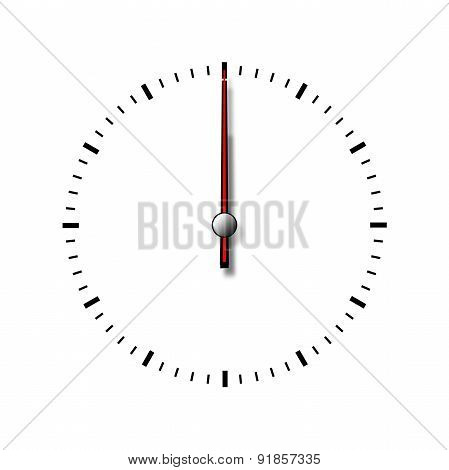 Clock Without Numbers Isolated On White Background.