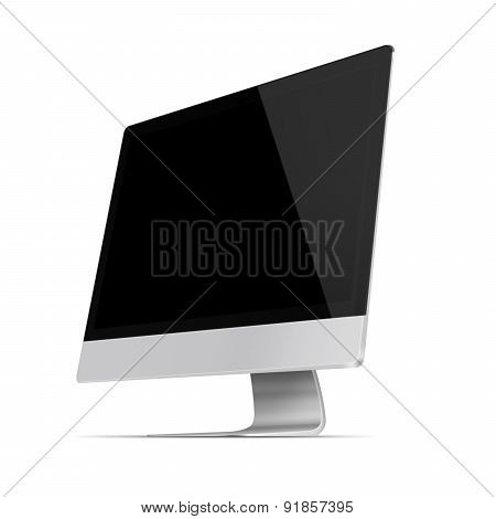 Realistic Flat Screen Computer Monitor.