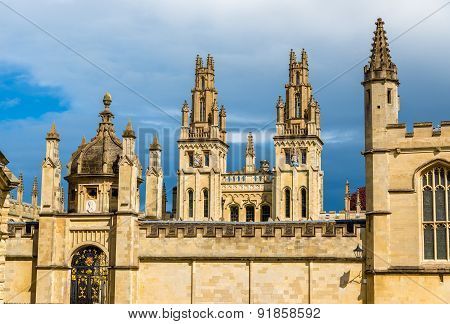 Walls Of All Souls College In Oxford - England