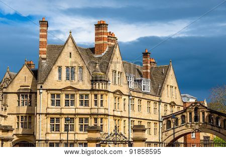 Buildings Of Hertford College In Oxford - England