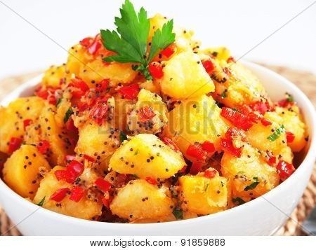Potatos With Sesame And Cilantro
