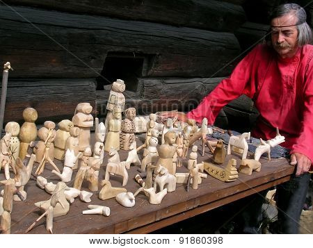 Traditional Russian wooden toy